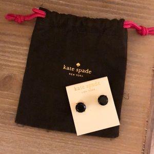 Black Kate Spade Gumdrop Earrings